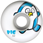Pig Penguin Skateboard Wheels 52mm White